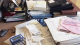 Desk with financial documents