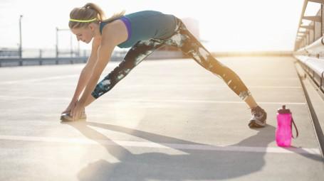 stretching gambe sport donna