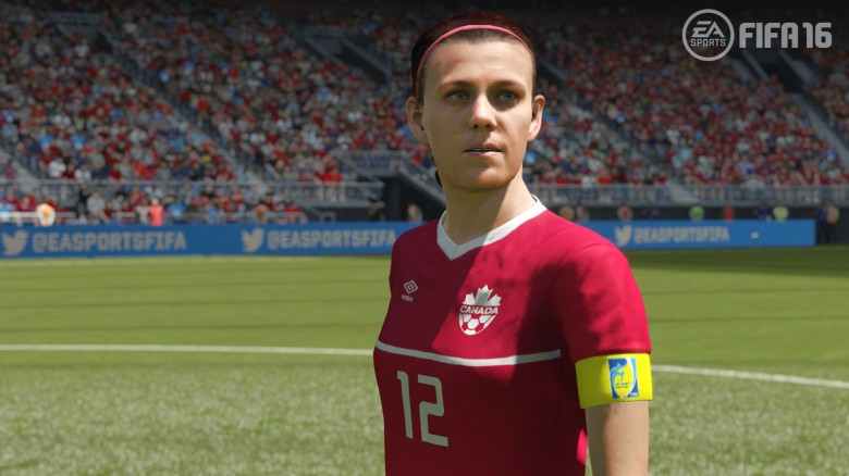 La star canadese Christine Sinclair