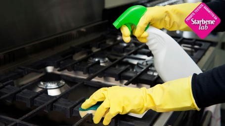 sgrassatore per acciaio, pulizie
