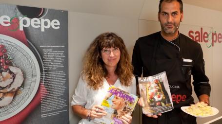 Il caporedattore di Starbene Francesca Pietra e lo chef di Sale&Pepe Roberto Maurizio