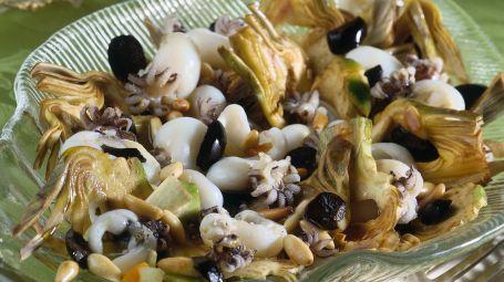 Carciofi, olive e seppioline Starbene