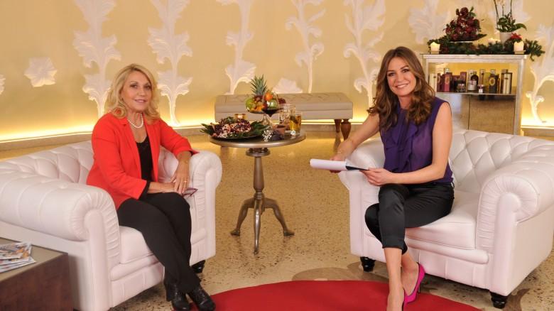 La nutriozionista Evelina Flachi di Starbene e la conduttrice Tessa Gelisio