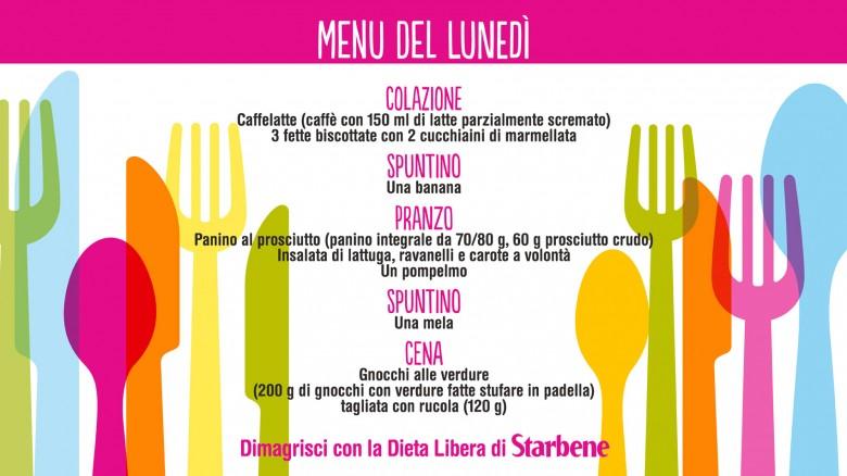 Souvent Dieta Libera, il menu della 1^ settimana SC38