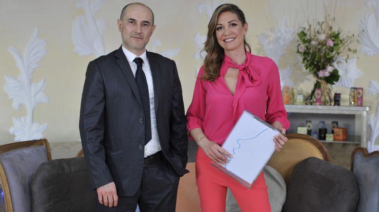 Il dentista Giovanni Bona e la conduttrice Tessa Gelisio