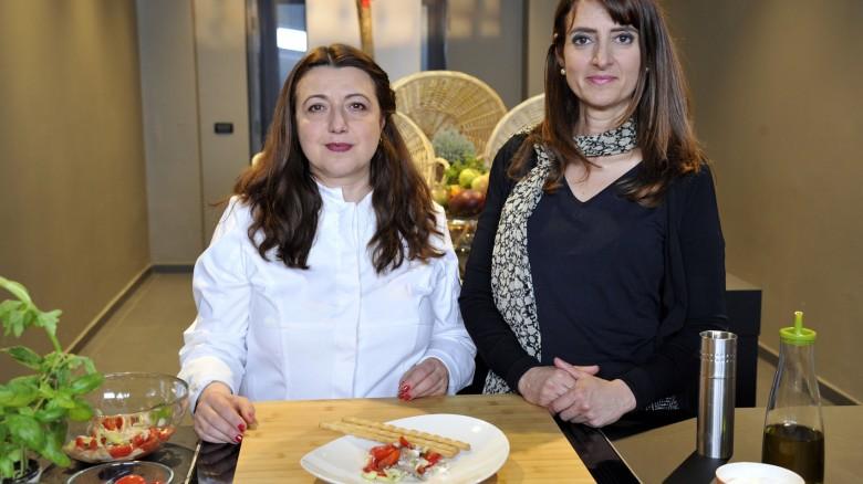 La chef Eva Golia e la nutrizionista Serafina Petrocca