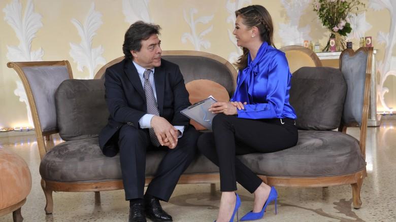 Tessa Gelisio con l'esperto di Starbene Franco Marchetti, medico di Medicina generale.