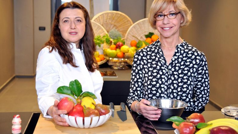 La chef Eva Golia e la nutrizionista Diana Scatozza