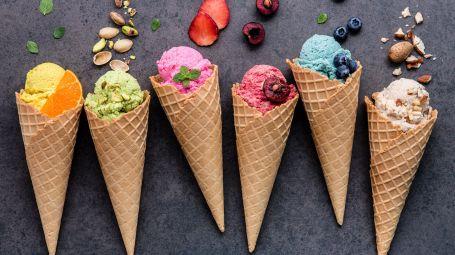 coni gelato gusti diversi
