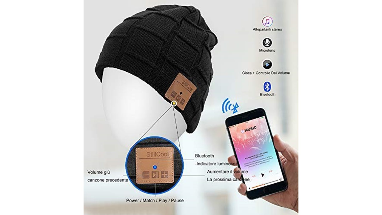 cappellino bluetooth