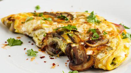 Ricette vegetariane: omelette di ceci e funghi