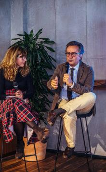Il neurologo Luigi Ferini Strambi (Centro medicina sonno S. Raffaele) con Francesca Pietra