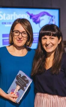 Il direttore di Starbene, Annalisa Monfreda (a destra), con Sabrina Barbieri: hanno parlato del mestiere di genitore