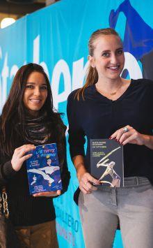 La karateka Sara Cardin (a sinistra) e l'ex ginnasta Marta Pagnini