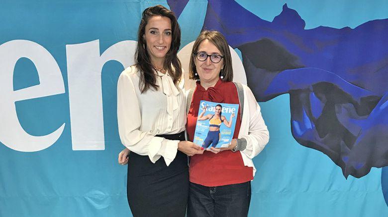 La fiorettista Elisa Di Francisca (protagonista della cover del numero 44) con il vicedirettore Sabrina Barbieri