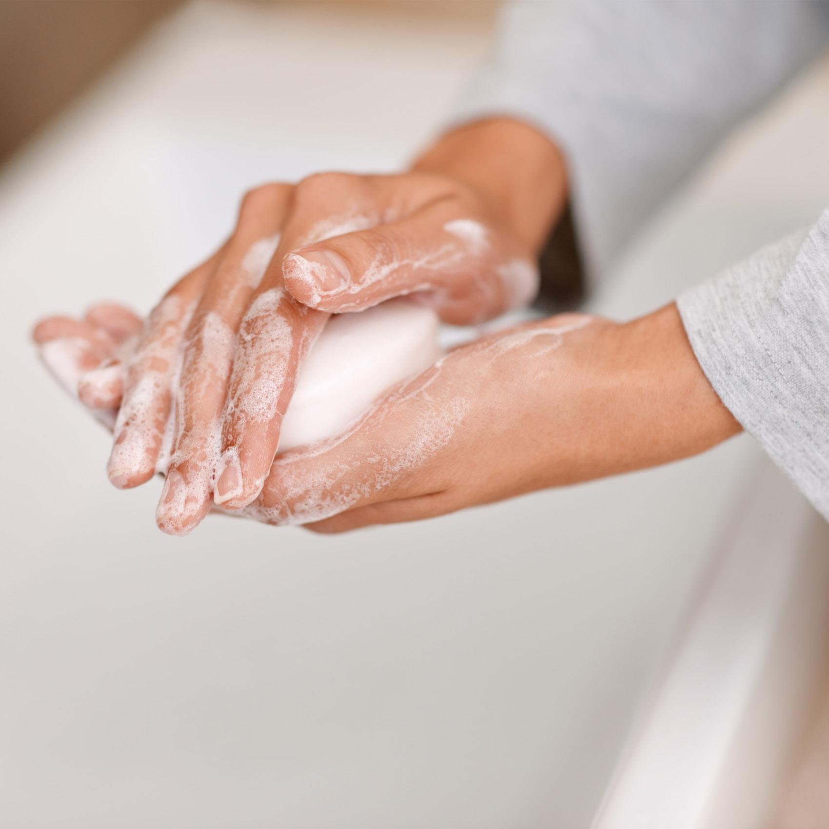 saponetta, lavarsi le mani