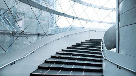 grattacielo, scalinata