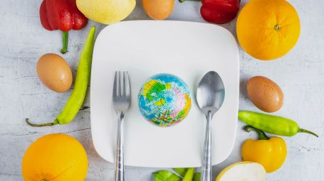 cibo, diete, mappamondo