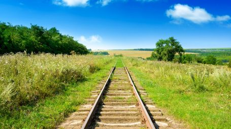 antica rotaia del treno