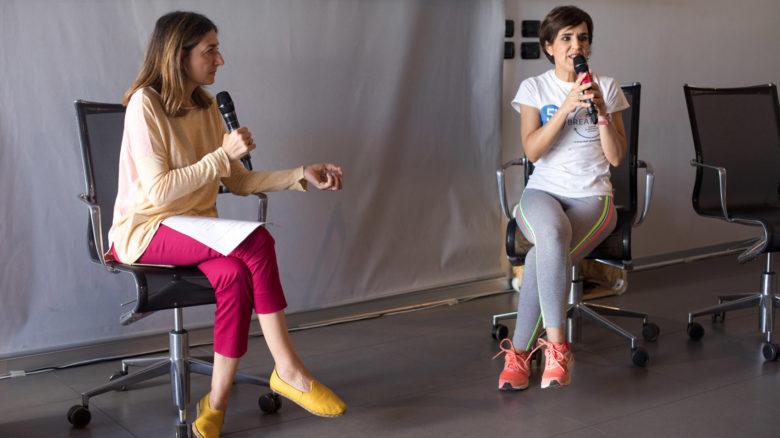 L'apneista Anna Seddone (a destra) parla di tecniche di respirazione con Daniela Cerrato per mypersonaltrainer.it