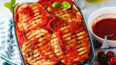 Ricette veg: parmigiana di melanzane senza formaggio
