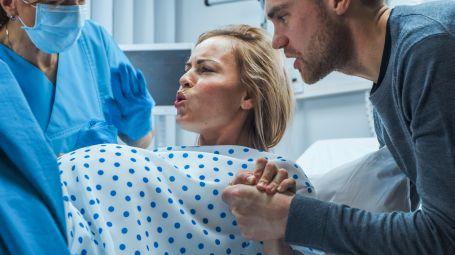 ospedale, parto, gravidanza