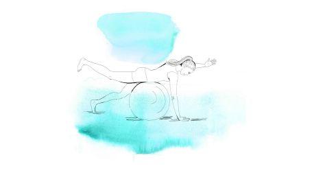 4 esercizi con la fitball contro il mal di schiena