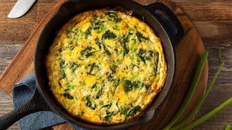 Ricette vegetariane: la frittata agli spinaci senza uova