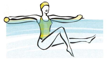 Aquagym per gli addominali: gli esercizi in acqua alta